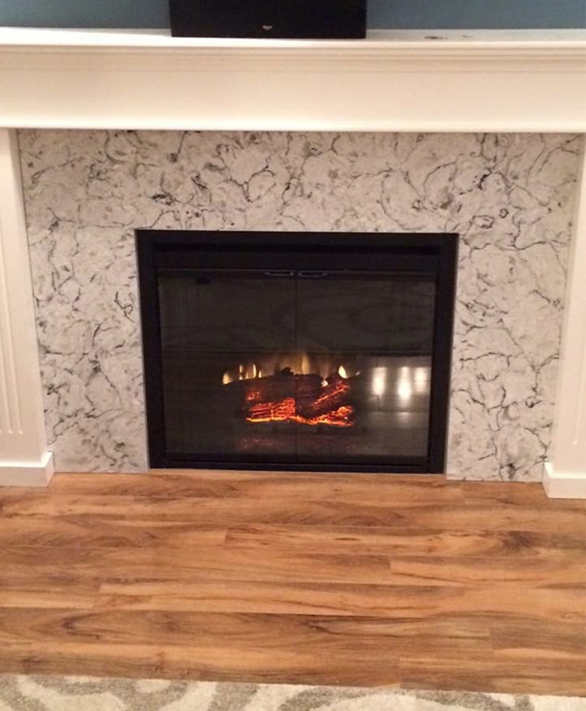 Before & After Y9008 Quartz Fireplace - Victoria, BC