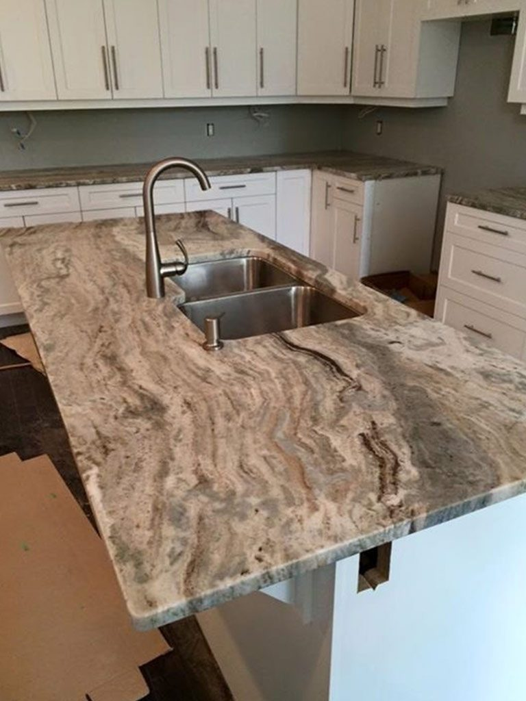 Brown Fantasy Granite Kitchen