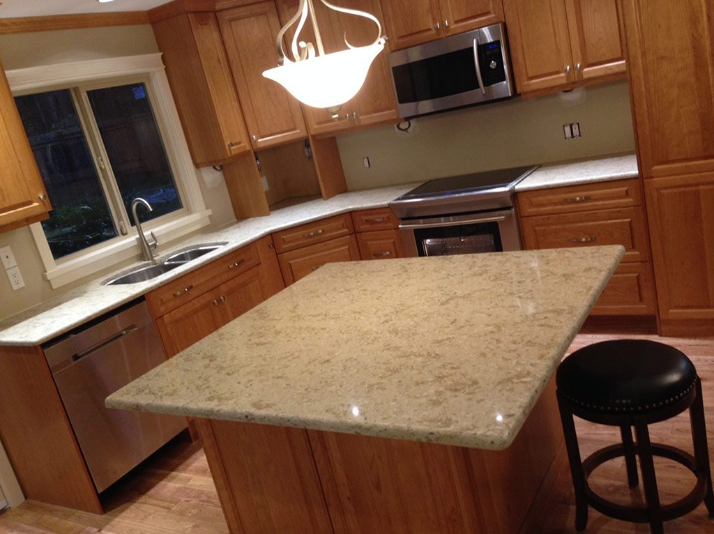 Silver Sea Quartz Kitchen
