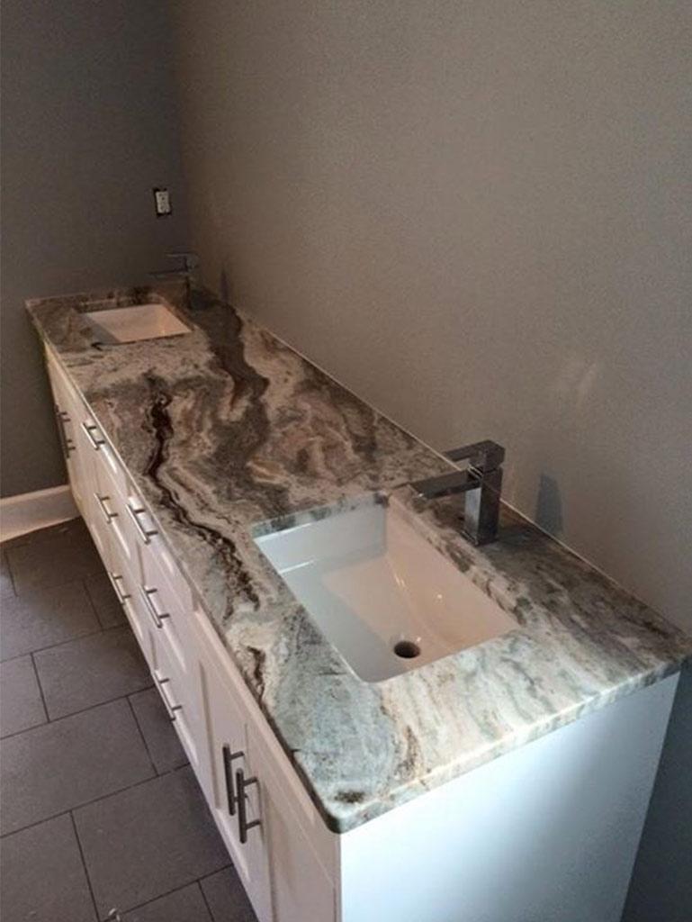 Brown Fantasy Granite Kitchen & Bathroom - Shawnigan Lake, BC