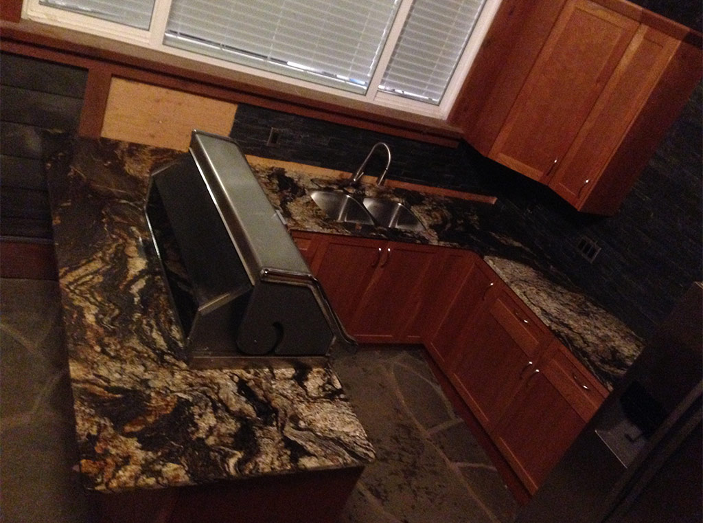 Magma Granite Outdoor Kitchen - Shawnigan Lake, BC